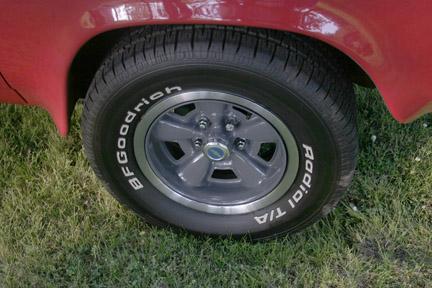 Z/28 - Chevelle wheels, back